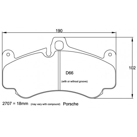 Plaquettes avant Pagid RSL29 Jaune - Porsche 911 (996) GT3 (02-05) / 2707-RSL29 - Apex Performance