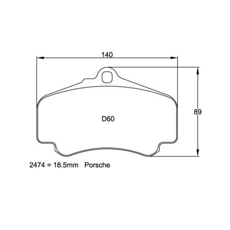 Plaquettes avant Pagid RSL29 Jaune - Porsche 911 (996) Turbo (99-05) / 2474-RSL29 - Apex Performance