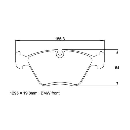 Plaquettes avant Pagid RSL29 Jaune - BMW Z3 M 1997-03 / 1295-RSL29 - Apex Performance