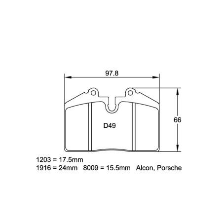 Plaquettes avant Pagid RSL29 Jaune - Porsche 911 (964) Carrera 4 3.6 (88-94) / 1203-RSL29 - Apex Performance