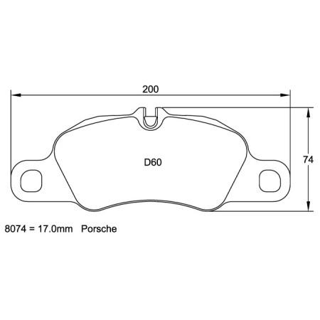 Plaquettes avant Pagid RSL29 Jaune - Porsche Boxster S / Cayman S 3.4 (981) (12+) / 8074-RSL29 - Apex Performance