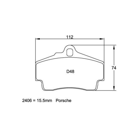 Plaquettes arriere Pagid RSL29 Jaune - Porsche Boxster S / Cayman S 3.4 (981) (12+) / 2406-RSL29 - Apex Performance