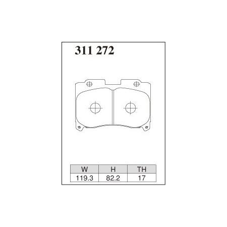 Plaquettes avant Dixcel Type R01 - Toyota Supra TT 4pot caliper (JZA80) (93-02)