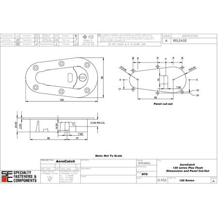 Attaches capot verrouillables AeroCatch 120-2100