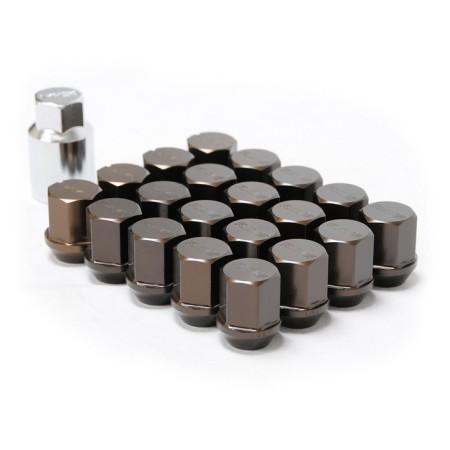 Ecrous de roues RAYS Anodisé Noir M12x1.50 (Type Standard)