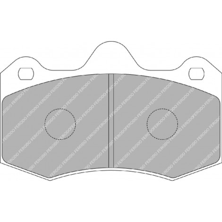 Plaquettes avant Ferodo DS3000 - Lotus Evora / Exige V6 AP 4 pistons (09+) / FRP3083R - Apex Performance