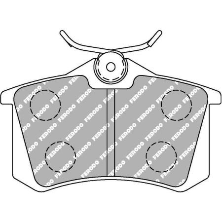 Plaquettes arrière Ferodo DS1.11 - Audi TT 3.2 V6 (8N) (04-06) / FCP1491W - Apex Performance