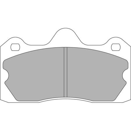 Plaquettes arrière Ferodo DS1.11 - Lotus Evora / Exige V6 AP 4 pistons (09+) / FRP3115W - Apex Performance