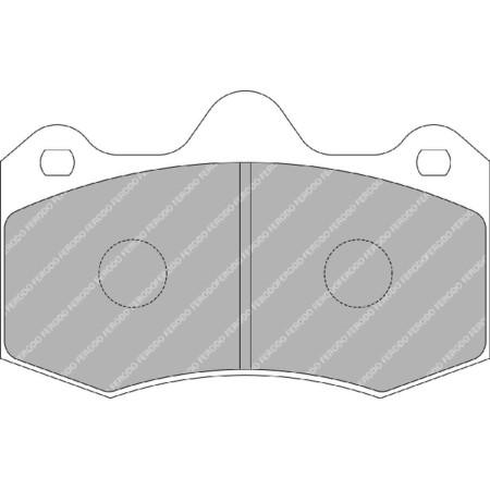 Plaquettes avant Ferodo DSUNO - Lotus Evora / Exige V6 AP 4 pistons (09+) / FRP3083Z - Apex Performance