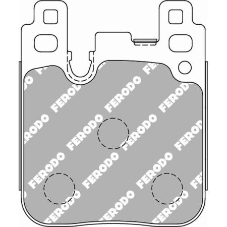 Plaquettes arrière Ferodo DSUNO - BMW M3 / M4 (F80, F82) avec disques acier (14+) / FCP4663Z - Apex Performance