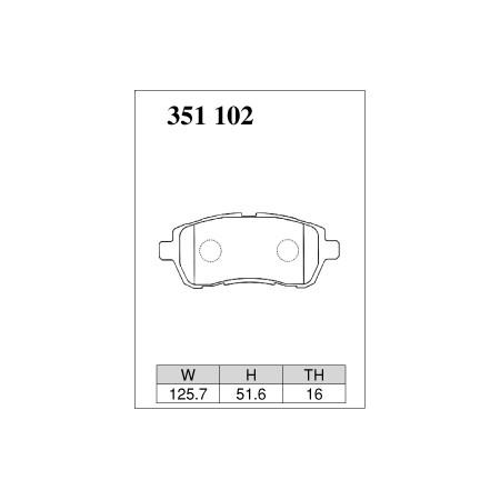 Plaquettes avant Dixcel Type M - Suzuki Swift Sport (ZC32S/ZC33S) (2012+) / M-351102 - Apex Performance