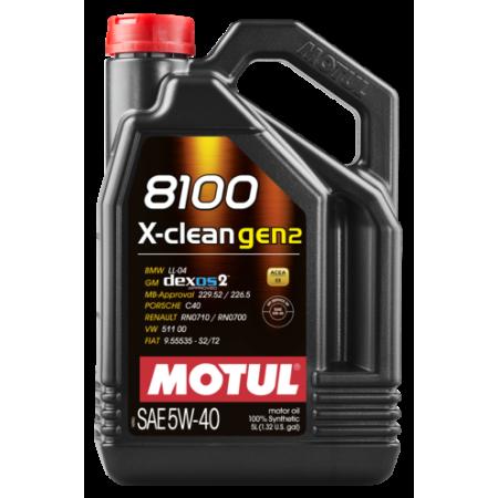 Motul 8100 X-clean GEN2 5W40 / MO109761 - Apex Performance