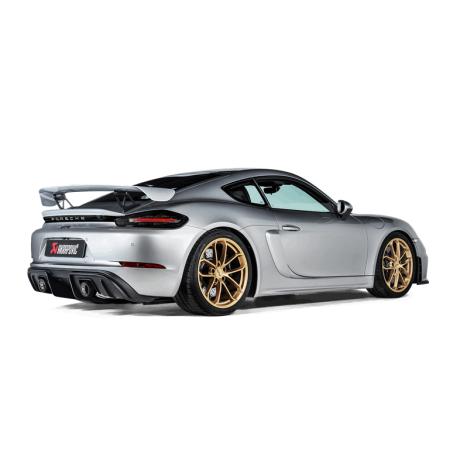 Akrapovic Échappement Slip-On - Porsche 718 Cayman GT4 / Boxster Spyder (982) 2020+ / S-PO/TI/18/1 - Apex Performance
