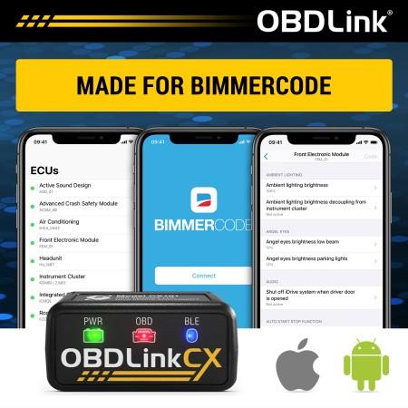 OBDLink CX Bluetooth 5.1 BLE - Adaptateur OBD2 pour Bimmercode / CX101 - Apex Performance