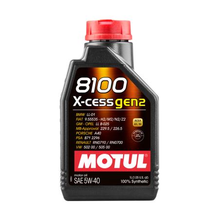 Motul 8100 X-cess GEN2 5W40 / MO109774 - Apex Performance