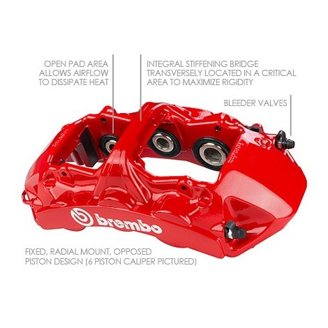 Kit avant Brembo GT (6 piston, 380x34mm) - Maserati Coupé, Spider (4200 GT) (02-07) / 1N1.9025A1 - Apex Performance
