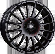 OZ Superturismo GT Matt Black Red Lettering